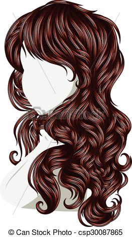 Brown Hair clipart curly hair Of Style Art Hair Curly