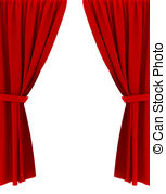 Curtain clipart drape Curtains Red Stock 7 and