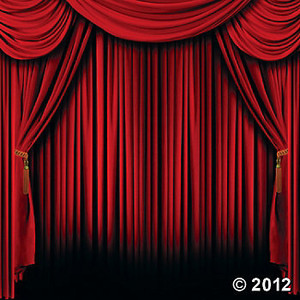 Curtain clipart drape Backdrop Clip Art Banner Red