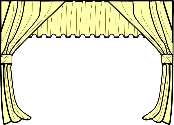 Curtain clipart stage screen Curtains Clipart art Free Clipart