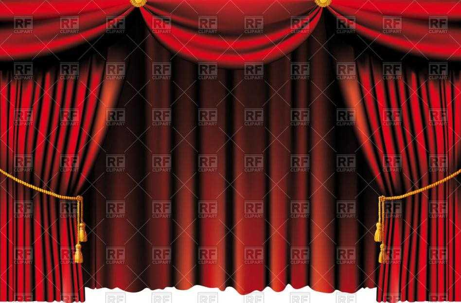 Curtain clipart animated Free Theater Full Illustration