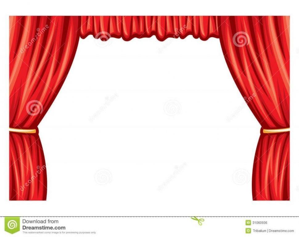 Curtain clipart animated Clipart Clipartfest  Curtain of