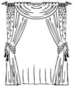 Curtain clipart black and white Royalty on Free Theater Window