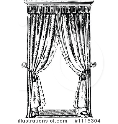 Curtain clipart black and white Collection by Curtains clipart #1115304