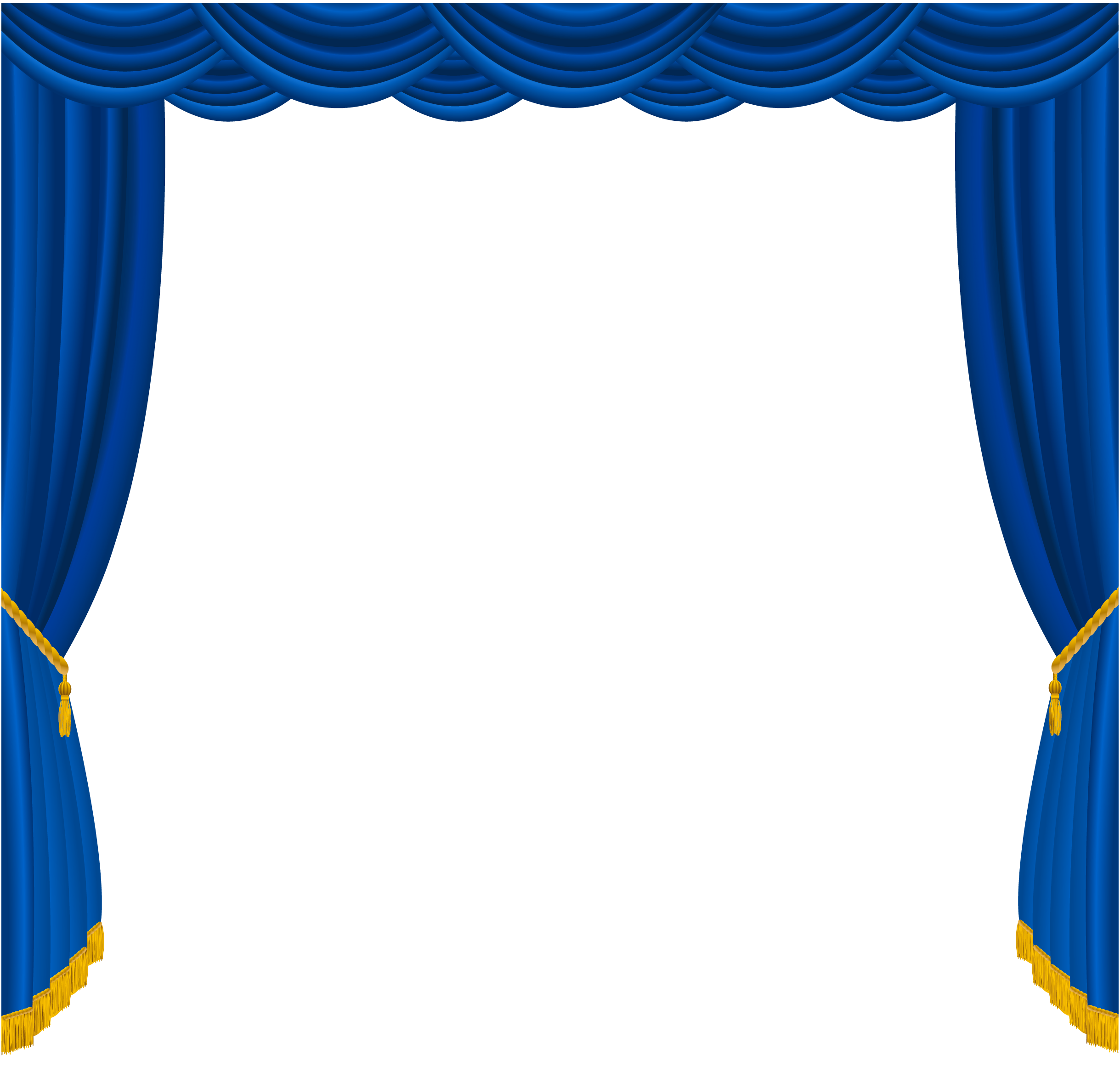 Curtain clipart blue curtain Size Yopriceville  Transparent Gallery