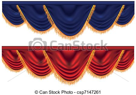 Curtain clipart blue curtain Blue  and Vector blue