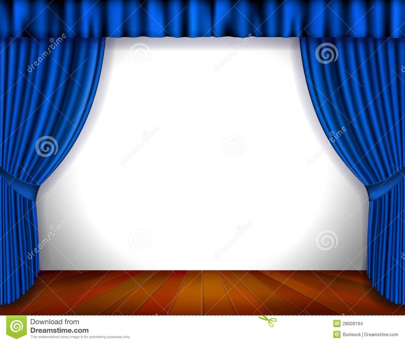 Curtain clipart blue curtain Curtains clipart Clipart stage blue