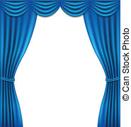 Curtain clipart blue curtain Curtain award golden star