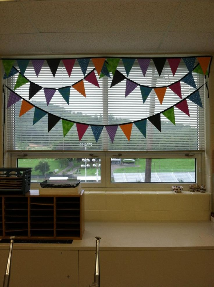 Curtain clipart classroom window Pennant Polka Made window Plans: