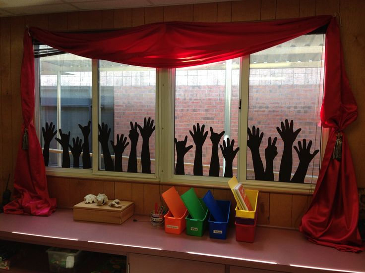 Curtain clipart classroom window Some Classroom hands School Rock
