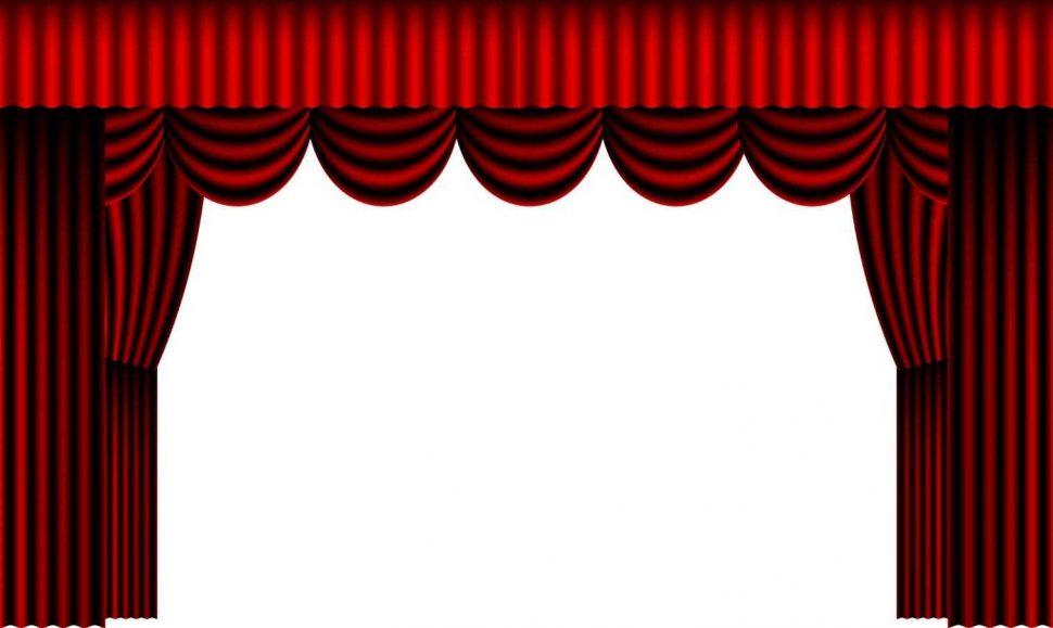 Curtain clipart curtain raiser Png Open Large Curtain Clipart