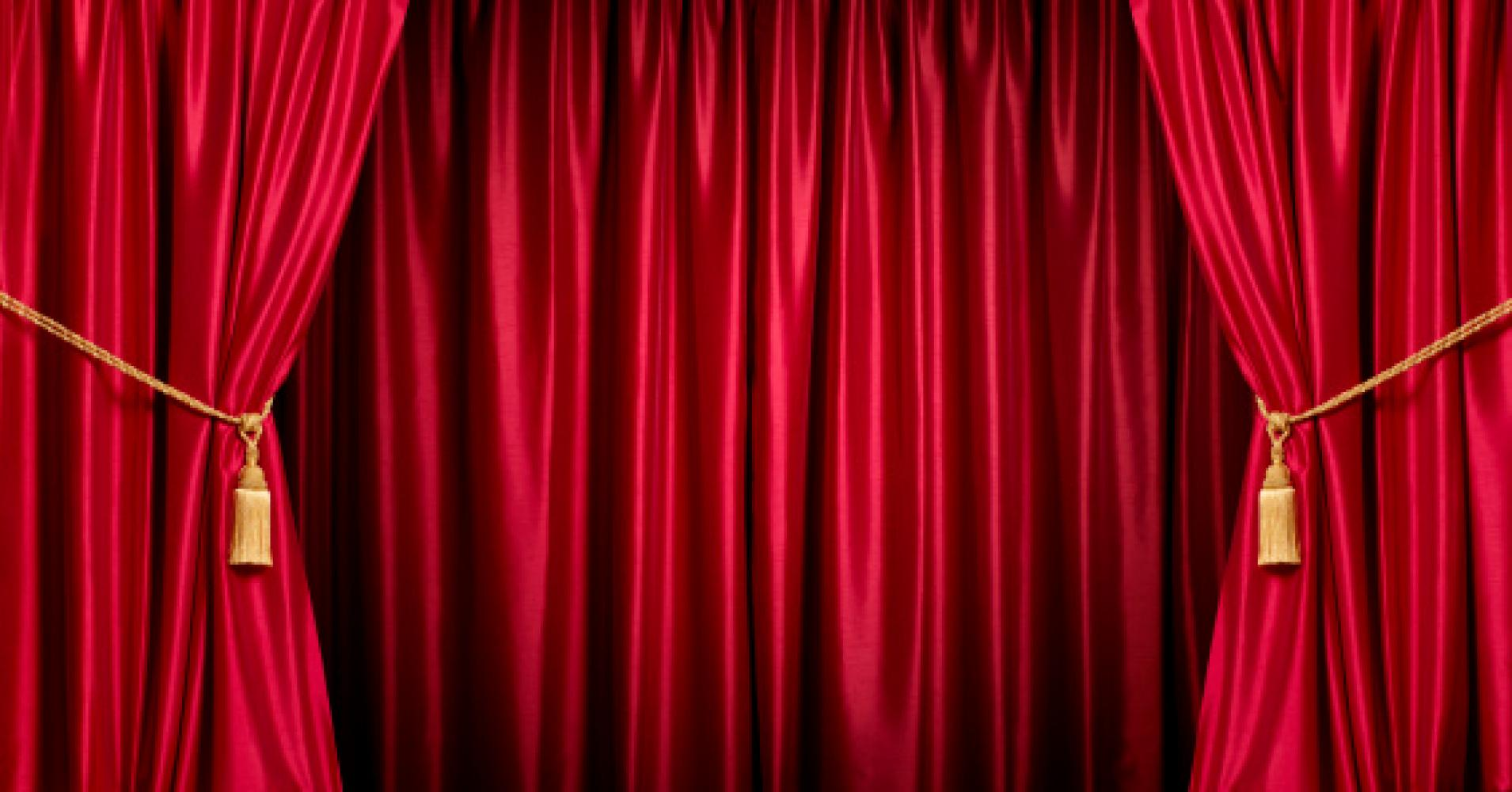 Curtain clipart curtain raiser  Investment Rising on Theater