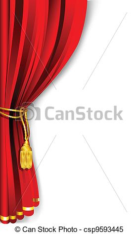 Curtain clipart drape Red of csp9593445 Vector illustration