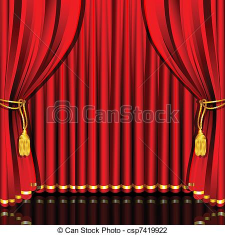 Curtain clipart drape Red of csp7419922 Illustration illustration