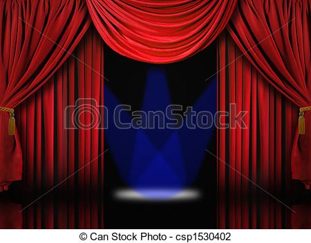Curtain clipart drape Clip Spotlights Theater Drape Velvet