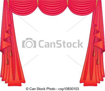 Curtain clipart logo Scarlet csp10830103 Clipart curtains curtains