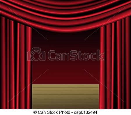 Curtain clipart playwright Stock Clip With of Curtains