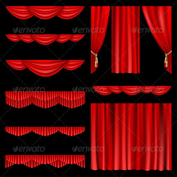 Curtain clipart playwright Curtains Red images best Pinterest