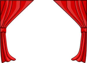 Curtain clipart red curtain Vector Clker Curtains clip Red