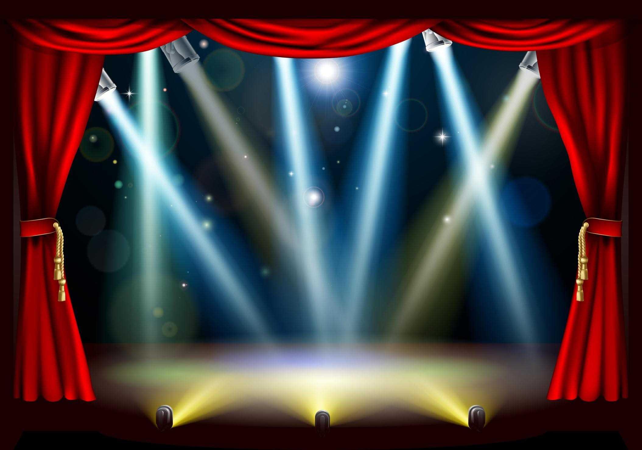 Curtain clipart spotlight Spotlight of Full Curtains :