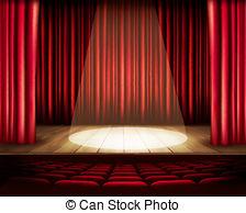 Curtain clipart spotlight Royalty theater  Spotlight 32