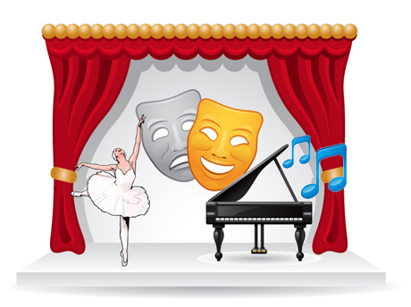 Curtain clipart talent show Talent Booth show School PTO