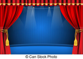 Curtain clipart theater light Flash 452  royalty