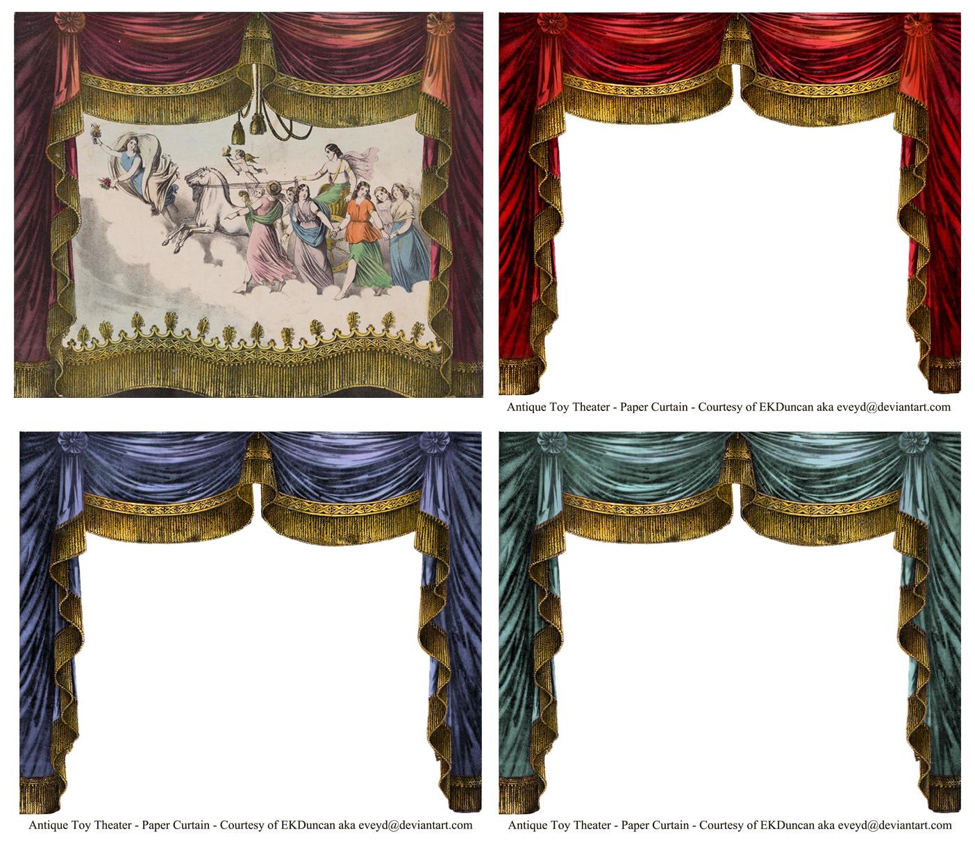 Curtain clipart victorian theatre It's versions paper choices vintage