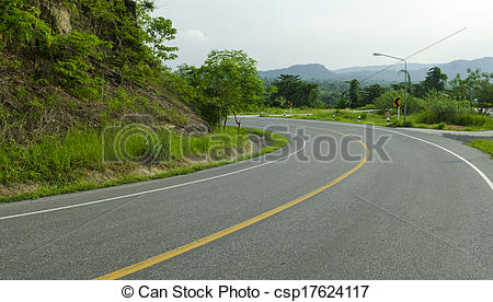 Curve clipart asphalt Tropical Asphalt forest along Photography