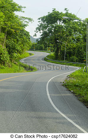 Curve clipart asphalt Forest Asphalt forest along of
