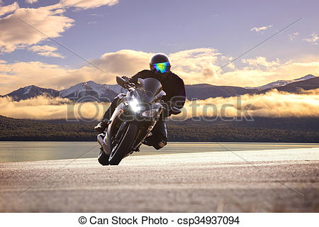 Curve clipart asphalt Photographs big Stock motorcycle young
