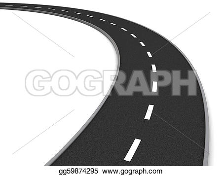 Curve clipart asphalt Drawing over asphalt gg59874295 GoGraph