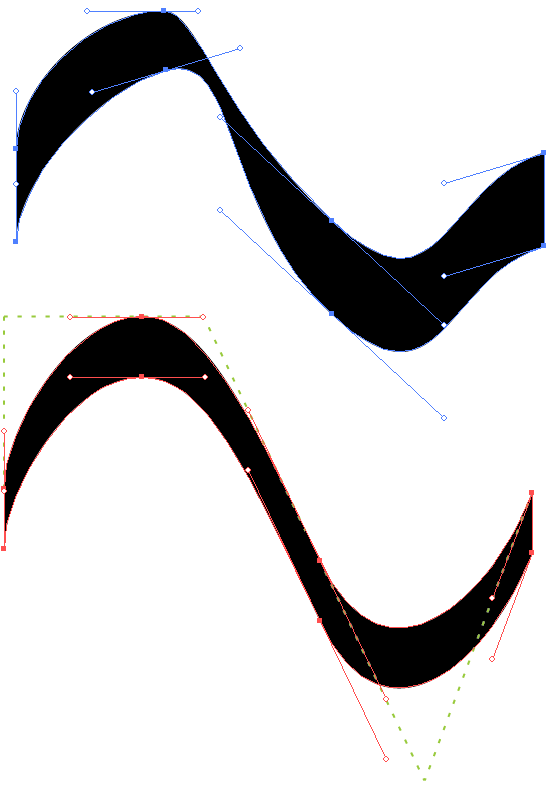 Drawn road curved line Illustrator in Curve in