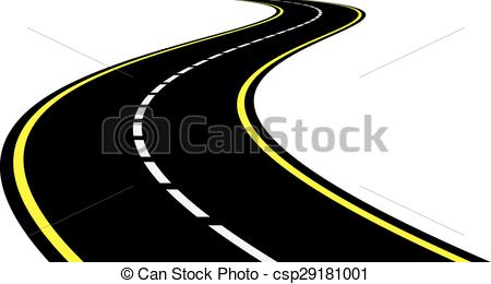 Drawn roadway doodle Of of Perspective  of