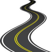 Asphalt clipart curved road Curved Art · Free GoGraph