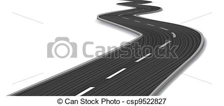 Curve clipart curved road Csp9522827 Curved road road Vector