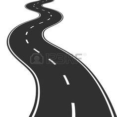 Curve clipart curvy road #6