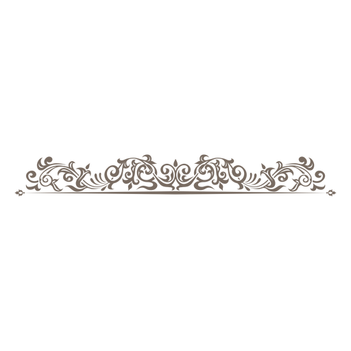 Curve clipart divider Floral curves PNG curly &