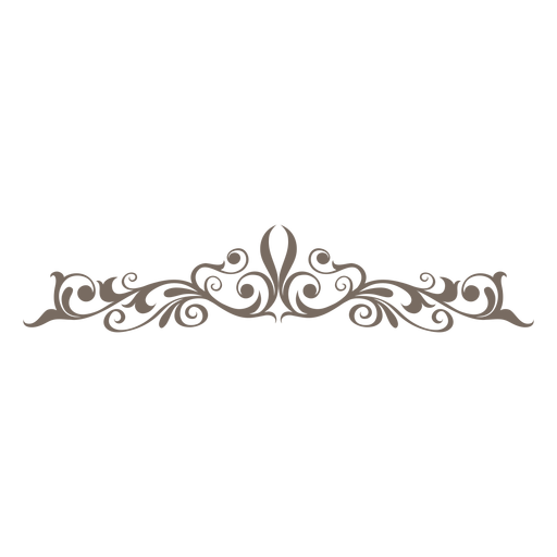 Curve clipart divider Floral curves PNG decorative &