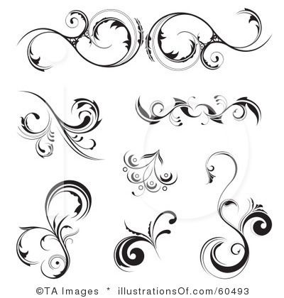 Curl clipart floral scroll Free TA Royalty by Images