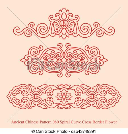 Curve clipart flower Border  Curve EPS Chinese
