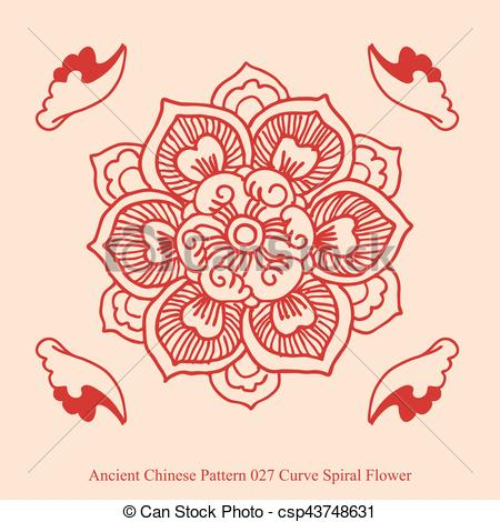 Curve clipart flower Csp43748631 Spiral Ancient Chinese Curve