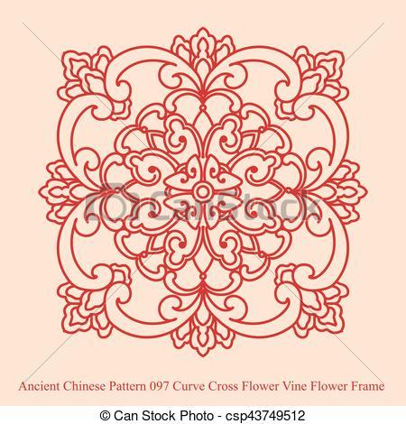 Curve clipart flower Vine  Cross Clip Chinese