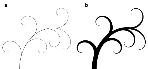 Curve clipart ornament Variable Based a Magnetic (b)