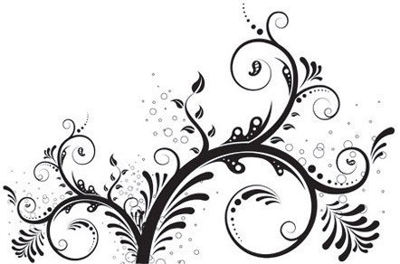 Curve clipart ornament Modern Curves Based 3 Floral