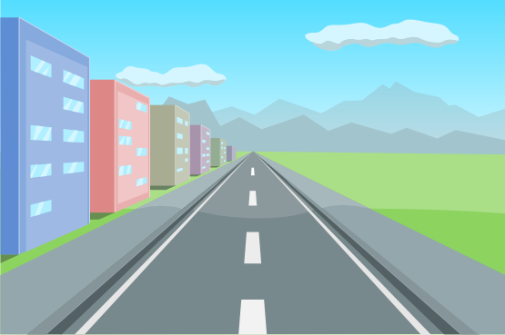 Freeway clipart road background #1