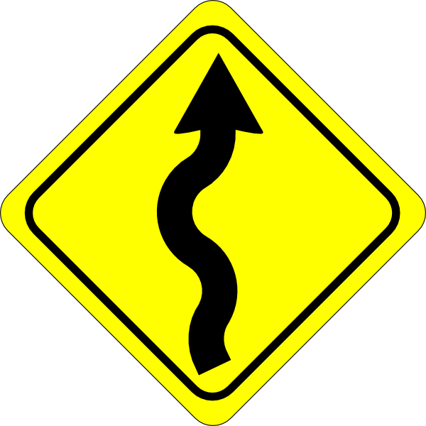 Curve clipart road map #9