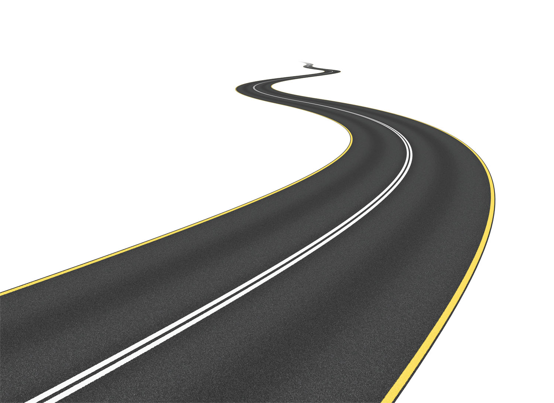 Drawn roadway doodle Curvy Art  Long Clipart