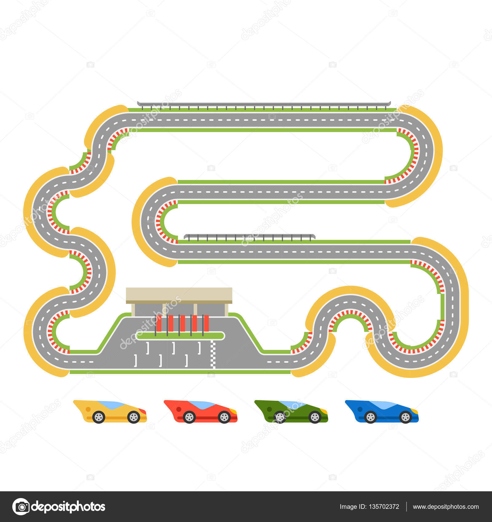 Curve clipart road track #2