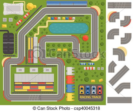 Curve clipart road track Race sport vector Race road